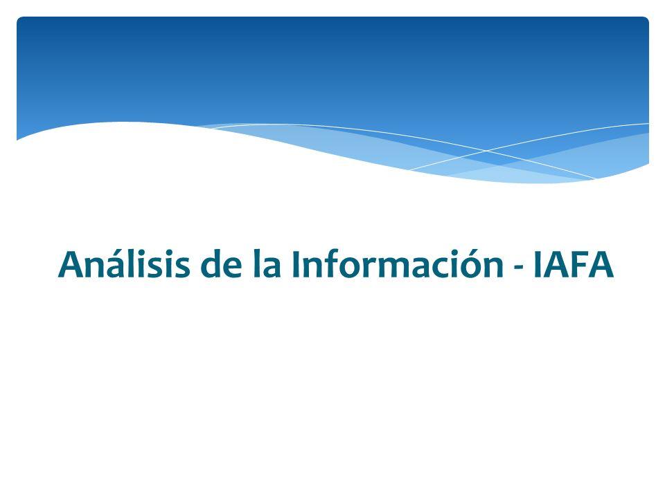 Análisis de la Información - IAFA