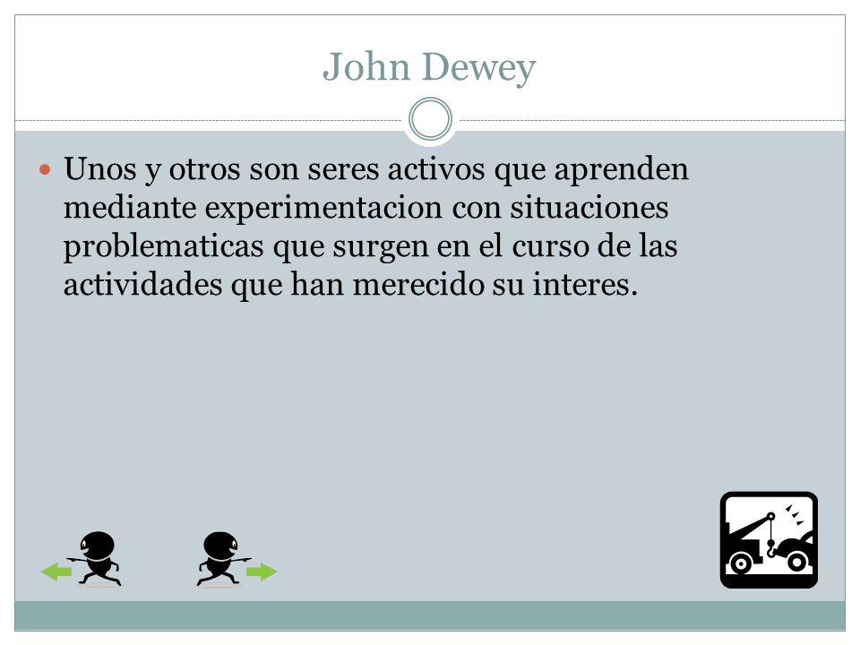 John Dewey Para él, el pensamiento no es un conglomerado de impresiones sensoriales, ni la fabricacion de algo llamado conciencia y mucho menos una manifestacion de un Espirtu Absoluto, sino una funcion mediadora e instrumental que habia evolucionado para servir al bienestar humano.