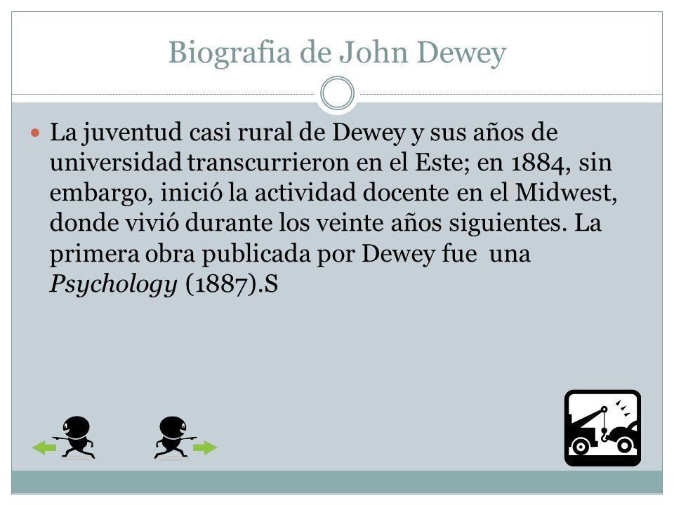 Formación del carácter Según Dewey, las personas consiguen realizarse utilizando sus talento a fin de contribuir al bienestar de su comunidad, razón por la cual la función de la educación en toda sociedad es ayudar a los niños a desarrollar un carácter.