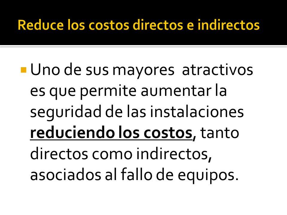 Uno de sus mayores atractivos es que permite aumentar la seguridad de las instalaciones reduciendo los costos, tanto directos como indirectos, asociad
