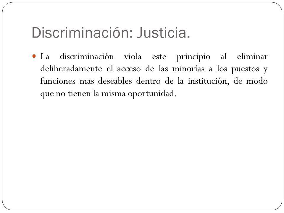 Discriminación: Justicia.