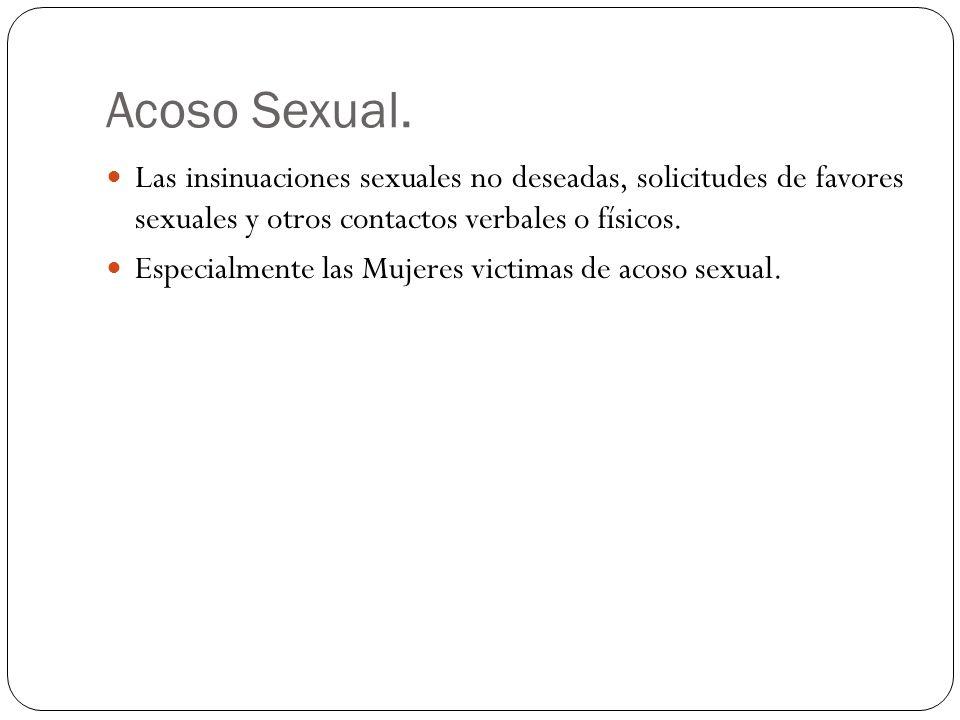 Acoso Sexual.