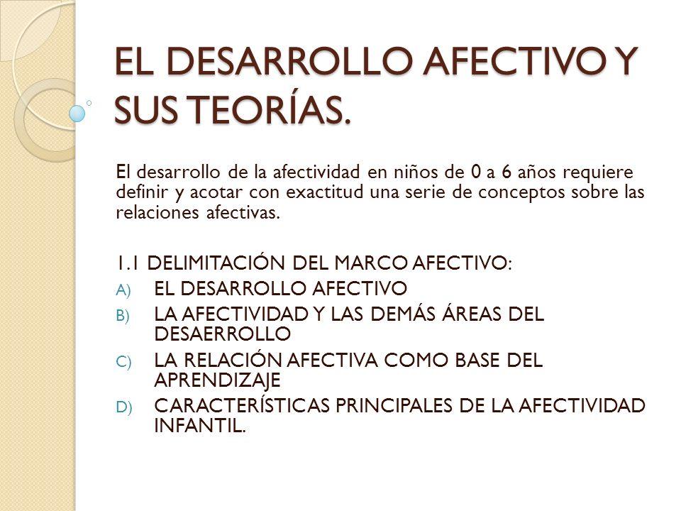 A) DELIMITACIÓN DEL DESARROLLO AFECTIVO.