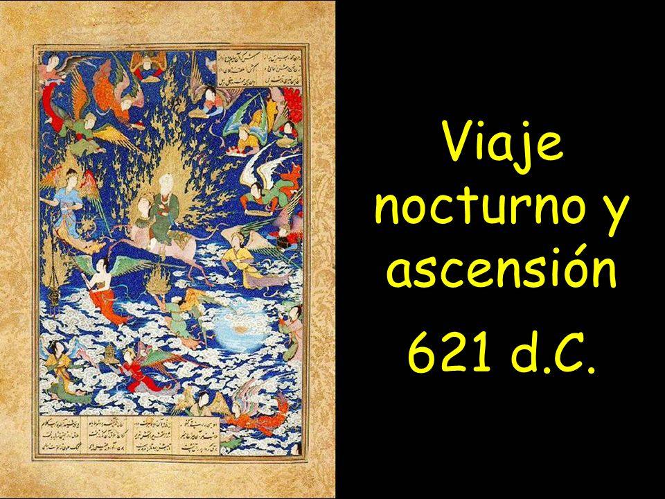 Viaje nocturno y ascensión 621 d.C.
