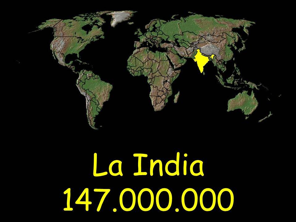 La India 147.000.000