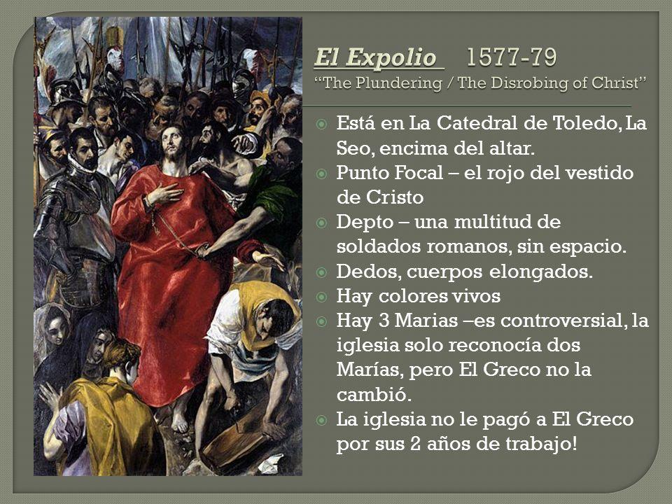 Está en La Catedral de Toledo, La Seo, encima del altar.