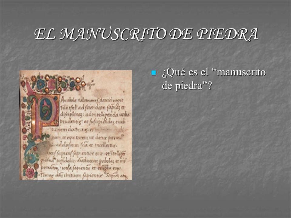 EL MANUSCRITO DE PIEDRA En la Cueva de Salamanca Fernando de Rojas recorre tres espacios diferentes.