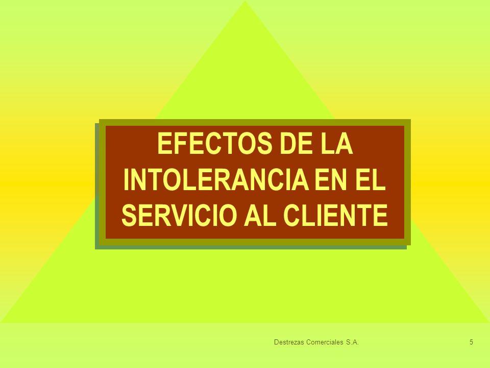 Destrezas Comerciales S.A.5 EFECTOS DE LA INTOLERANCIA EN EL SERVICIO AL CLIENTE