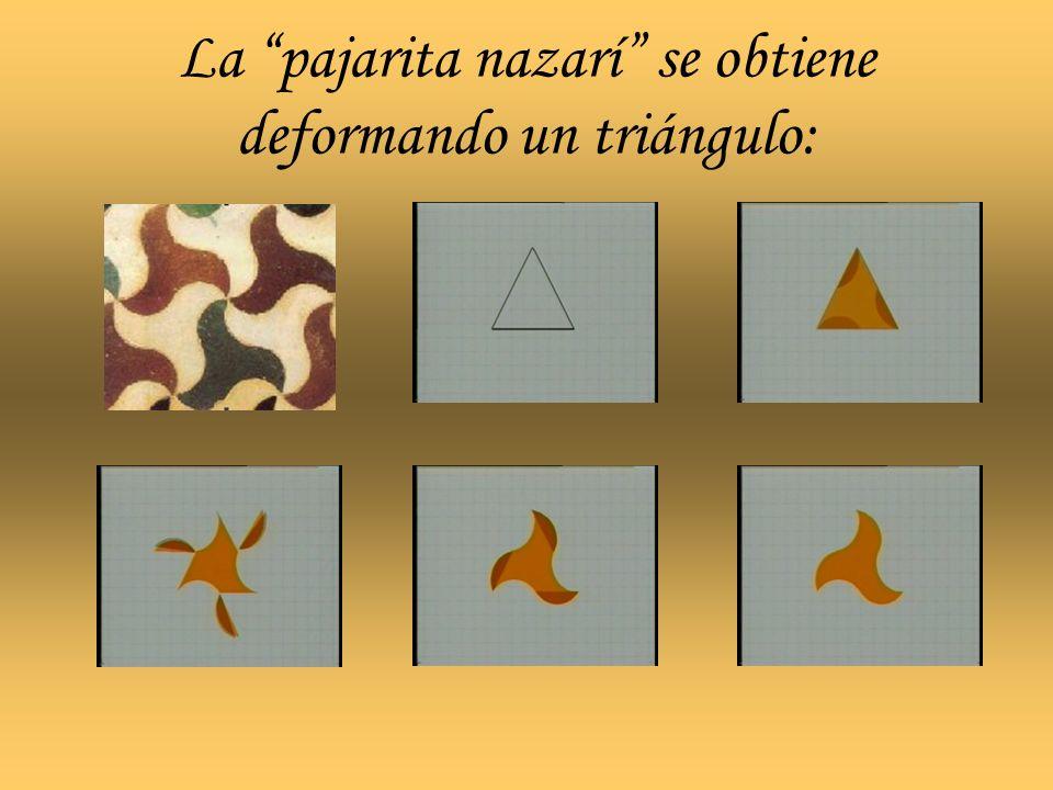 La pajarita nazarí se obtiene deformando un triángulo: