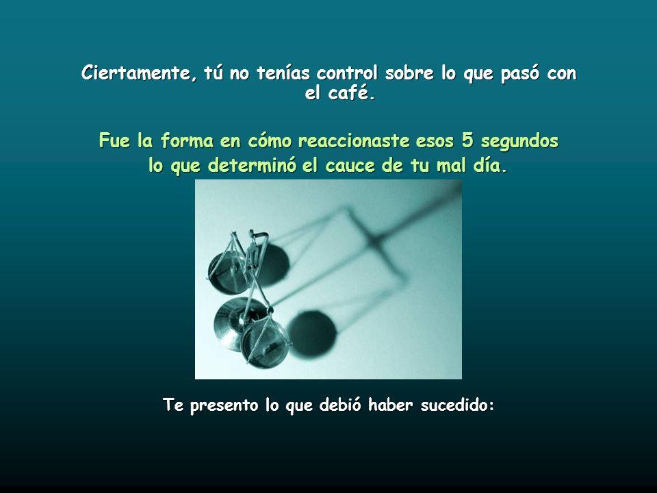 A) ¿El café lo causó? B) ¿Tu hija lo causó? C) ¿El policía lo causó? D) ¿Tú lo causaste? La respuesta es D