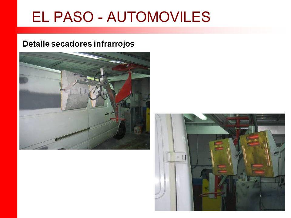 Detalle secadores infrarrojos EL PASO - AUTOMOVILES