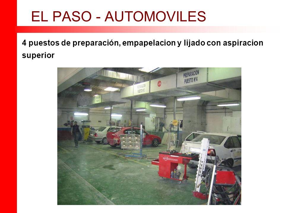 4 puestos de preparación, empapelacion y lijado con aspiracion superior EL PASO - AUTOMOVILES