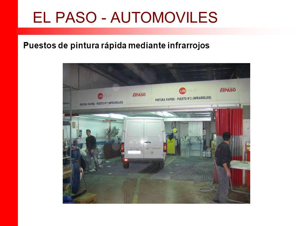 Puestos de pintura rápida mediante infrarrojos EL PASO - AUTOMOVILES
