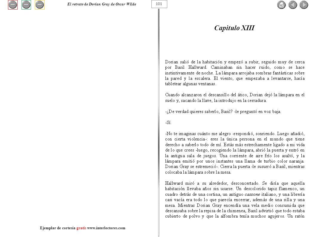 Capitulo XIII 101 El retrato de Dorian Gray de Oscar Wilde Ejemplar de cortesía gratis www.interlectores.com
