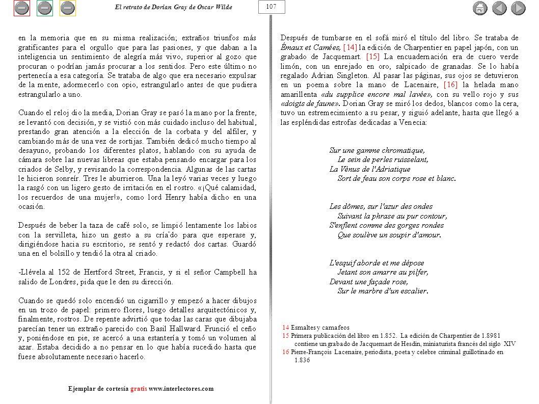 14 Esmaltes y camafeos 15 Primera publicación del libro en 1.852. La edición de Charpentier de 1.8981 contiene un grabado de Jacquemart de Hesdin, min