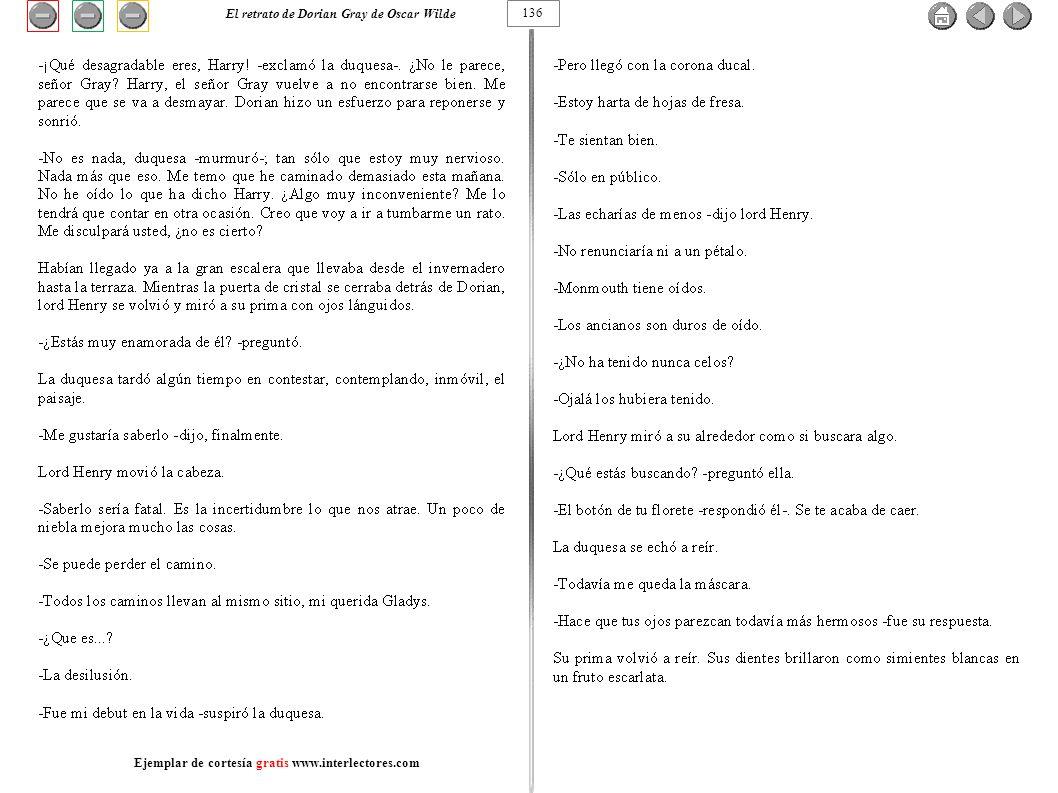 136 El retrato de Dorian Gray de Oscar Wilde Ejemplar de cortesía gratis www.interlectores.com