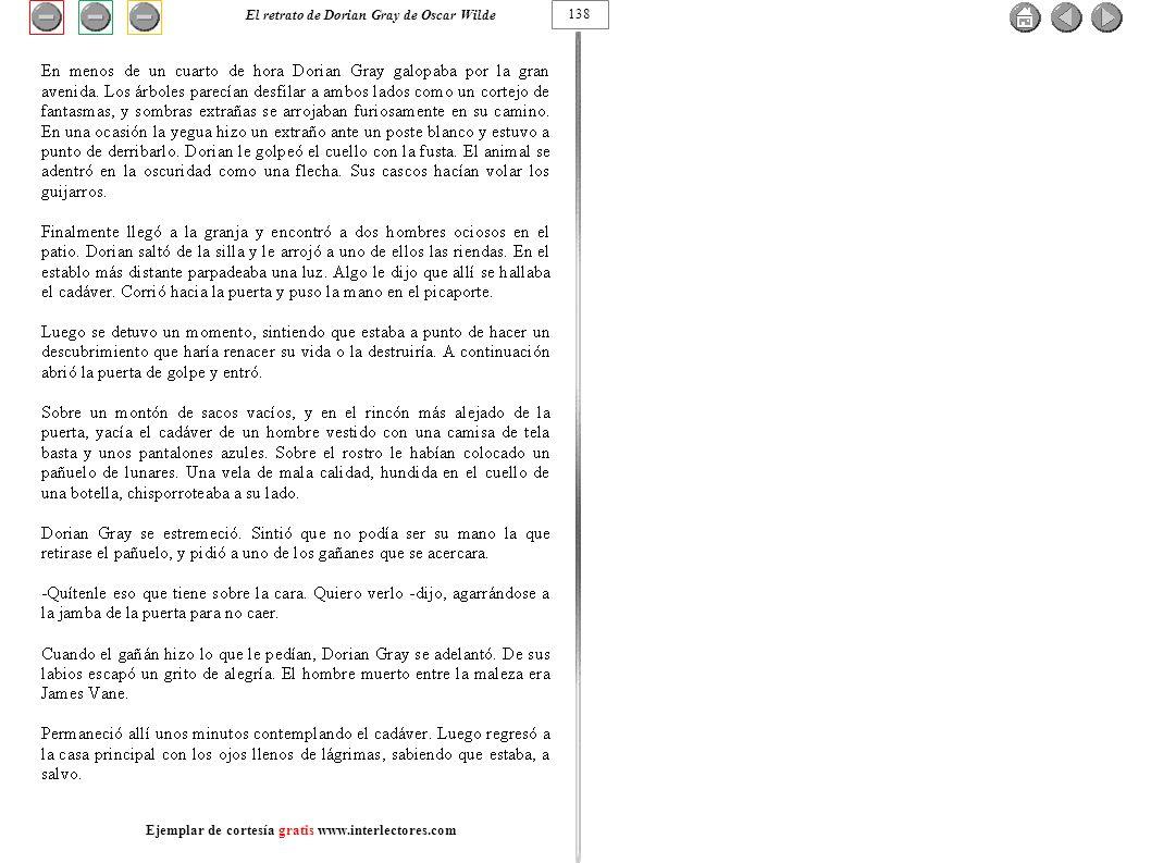 138 El retrato de Dorian Gray de Oscar Wilde Ejemplar de cortesía gratis www.interlectores.com