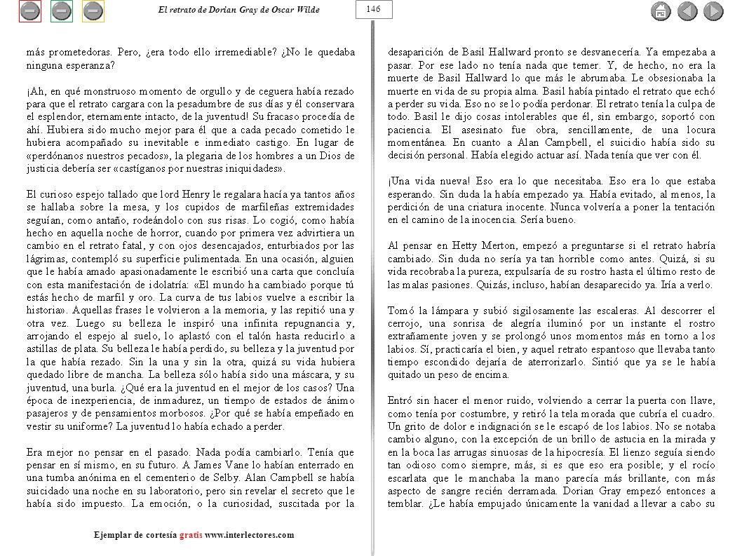146 El retrato de Dorian Gray de Oscar Wilde Ejemplar de cortesía gratis www.interlectores.com