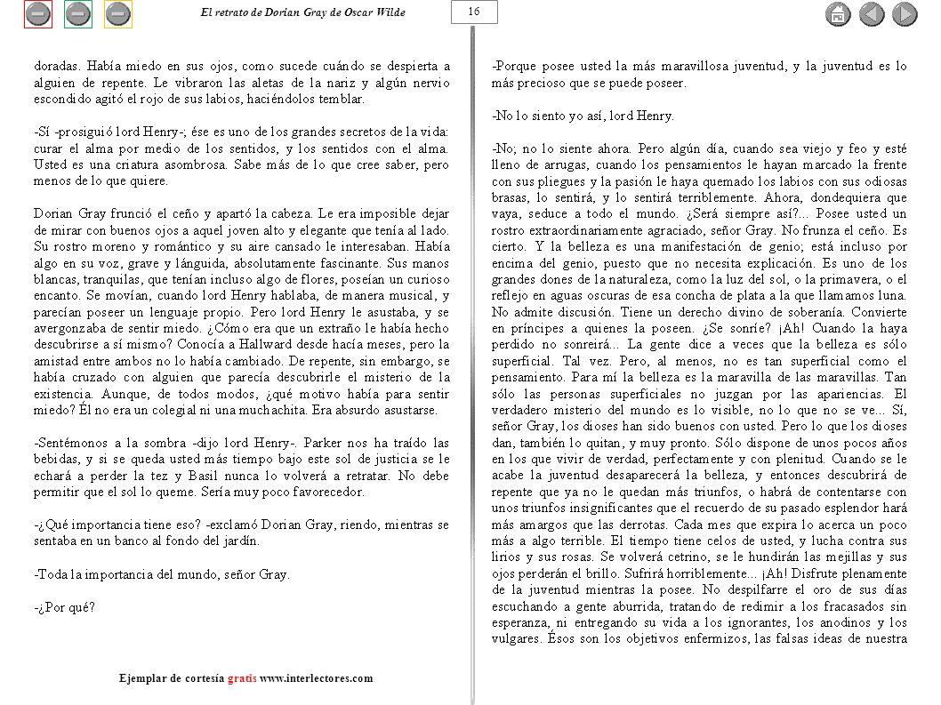 16 El retrato de Dorian Gray de Oscar Wilde Ejemplar de cortesía gratis www.interlectores.com
