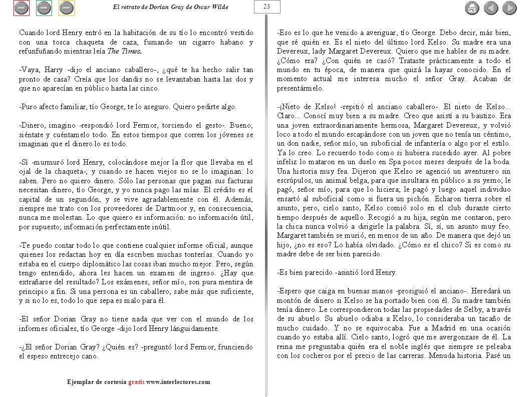 23 El retrato de Dorian Gray de Oscar Wilde Ejemplar de cortesía gratis www.interlectores.com