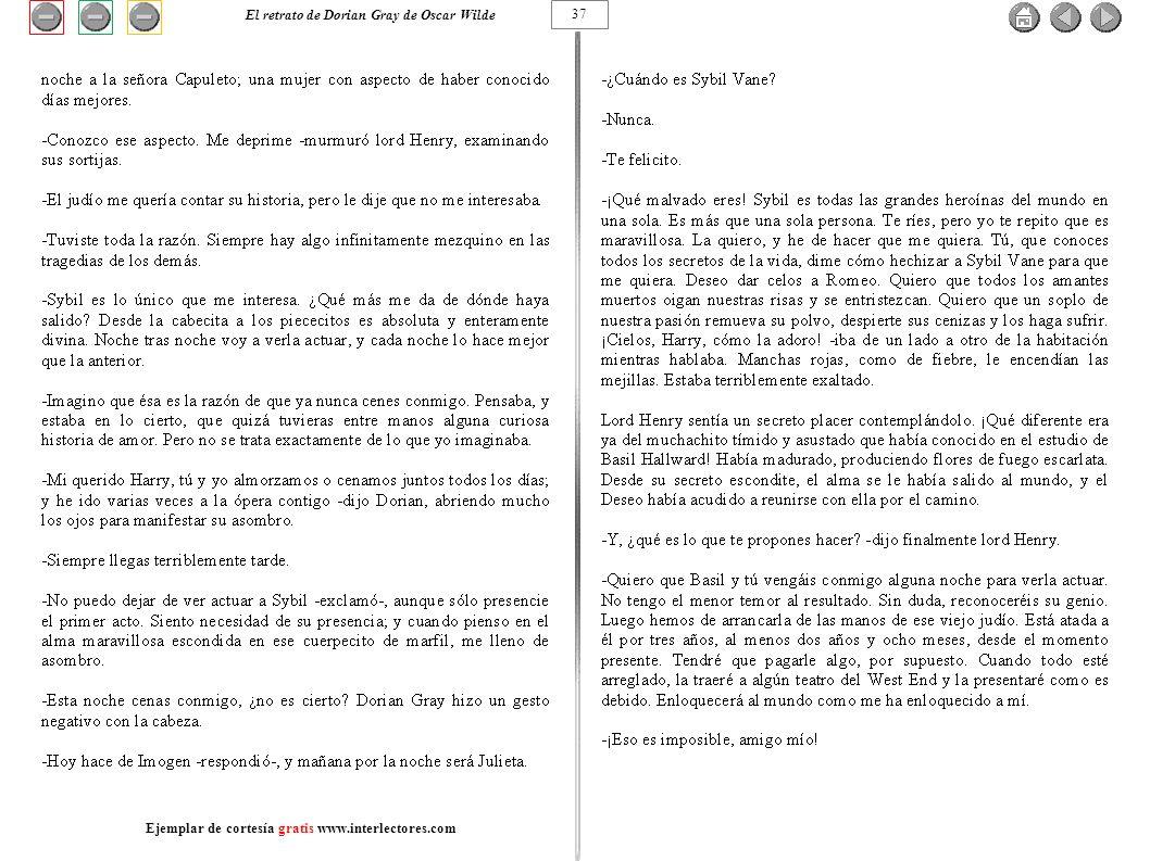 37 El retrato de Dorian Gray de Oscar Wilde Ejemplar de cortesía gratis www.interlectores.com
