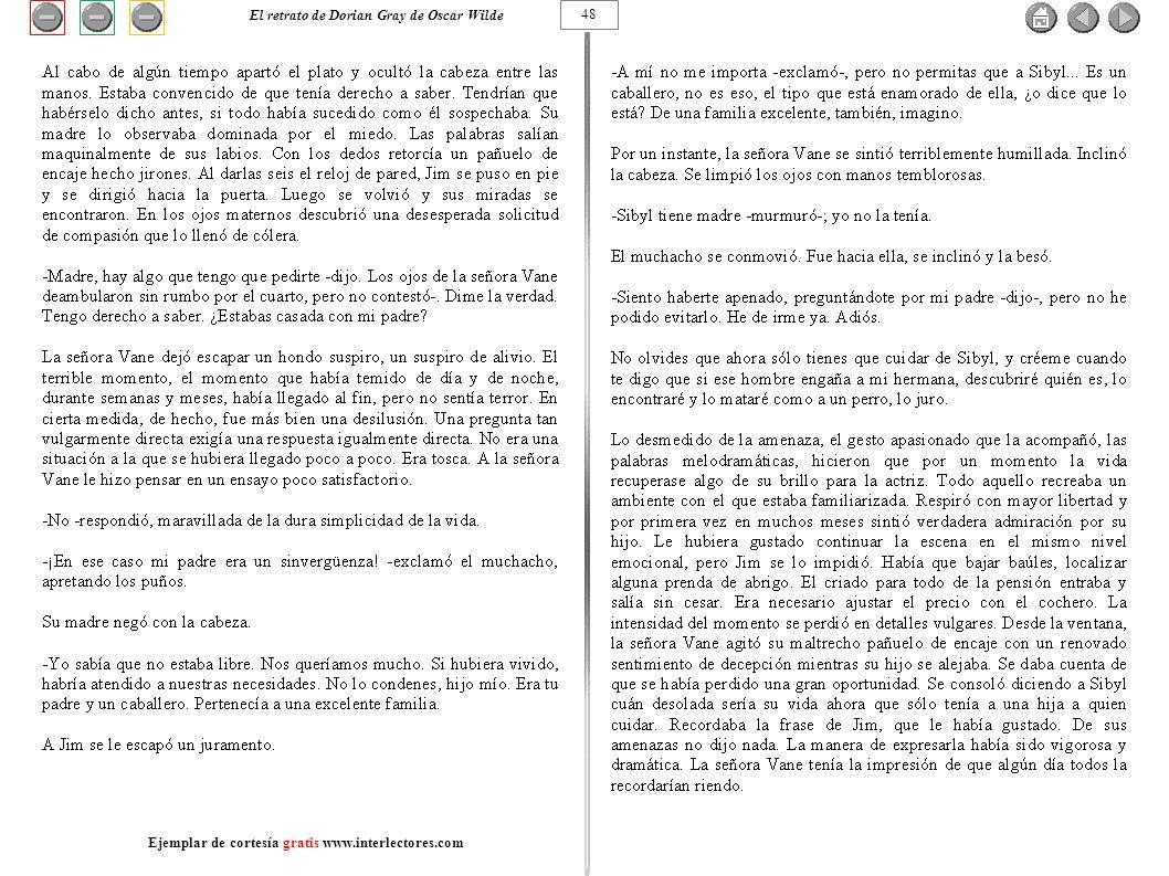 48 El retrato de Dorian Gray de Oscar Wilde Ejemplar de cortesía gratis www.interlectores.com