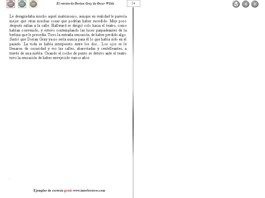 54 El retrato de Dorian Gray de Oscar Wilde Ejemplar de cortesía gratis www.interlectores.com