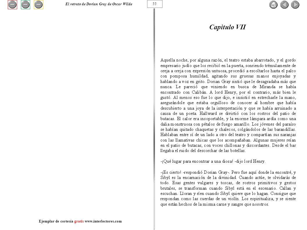 Capitulo VII 55 El retrato de Dorian Gray de Oscar Wilde Ejemplar de cortesía gratis www.interlectores.com