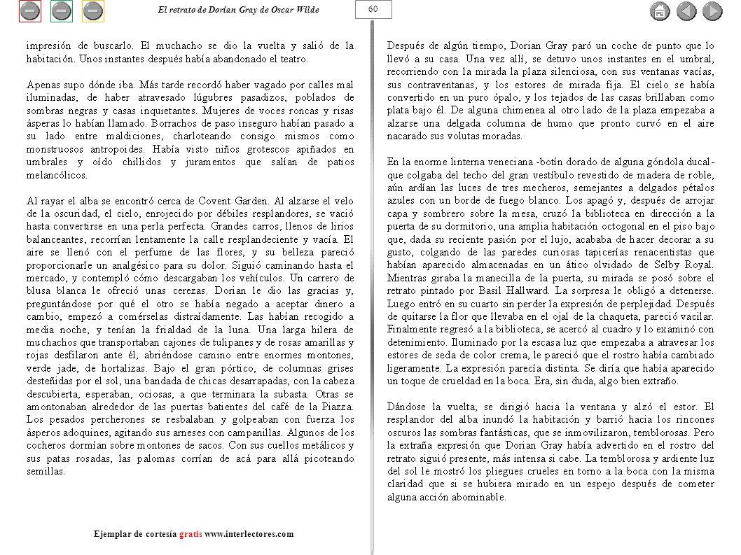 60 El retrato de Dorian Gray de Oscar Wilde Ejemplar de cortesía gratis www.interlectores.com
