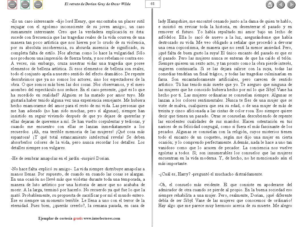 68 El retrato de Dorian Gray de Oscar Wilde Ejemplar de cortesía gratis www.interlectores.com