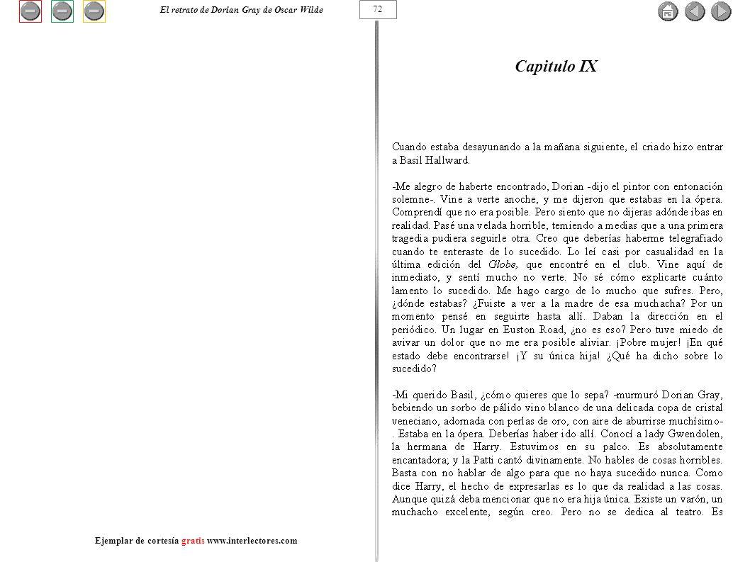 Capitulo IX 72 El retrato de Dorian Gray de Oscar Wilde Ejemplar de cortesía gratis www.interlectores.com