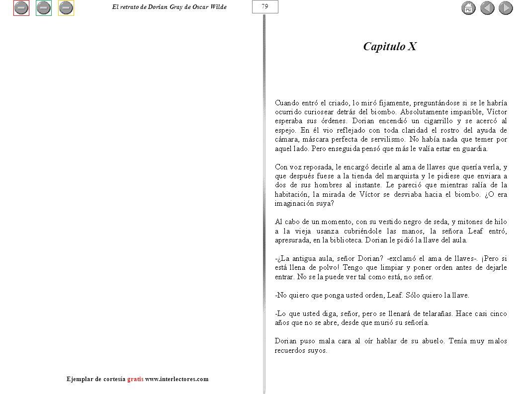 Capitulo X 79 El retrato de Dorian Gray de Oscar Wilde Ejemplar de cortesía gratis www.interlectores.com