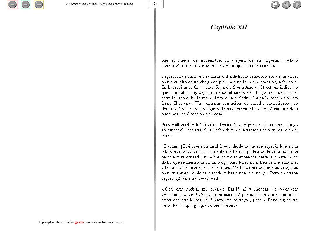 Capitulo XII 96 El retrato de Dorian Gray de Oscar Wilde Ejemplar de cortesía gratis www.interlectores.com
