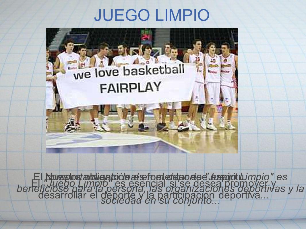 JUEGO LIMPIO El