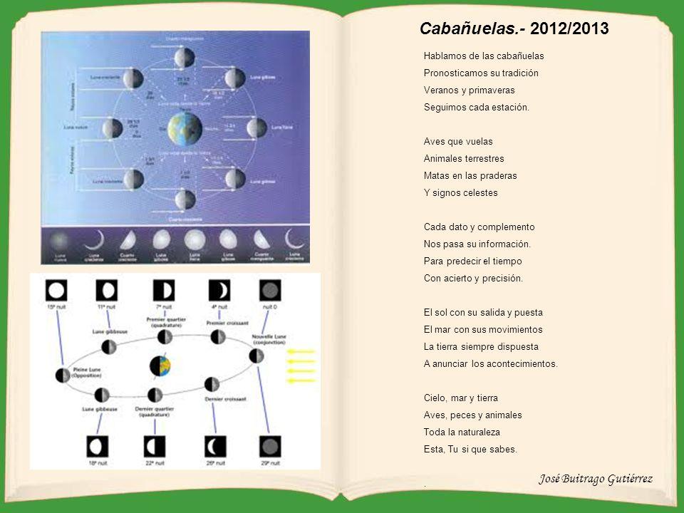 Fases de la luna 2013 Cabañuelas.- 2012/2013 Hablamos de las cabañuelas Pronosticamos su tradición Veranos y primaveras Seguimos cada estación.