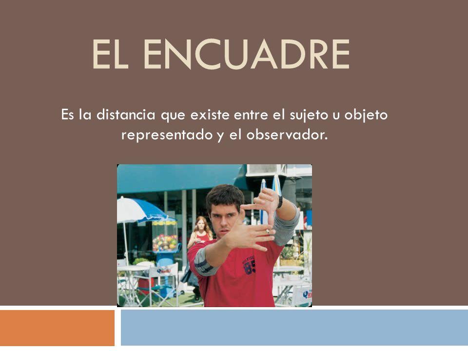 EL ENCUADRE Es la distancia que existe entre el sujeto u objeto representado y el observador.
