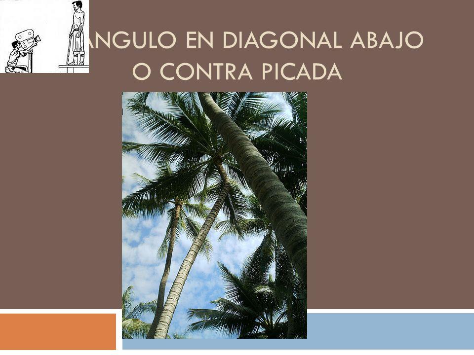 EL ÁNGULO EN DIAGONAL ABAJO O CONTRA PICADA