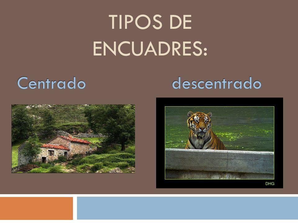 TIPOS DE ENCUADRES: