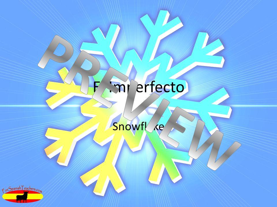 El Imperfecto Snowflake