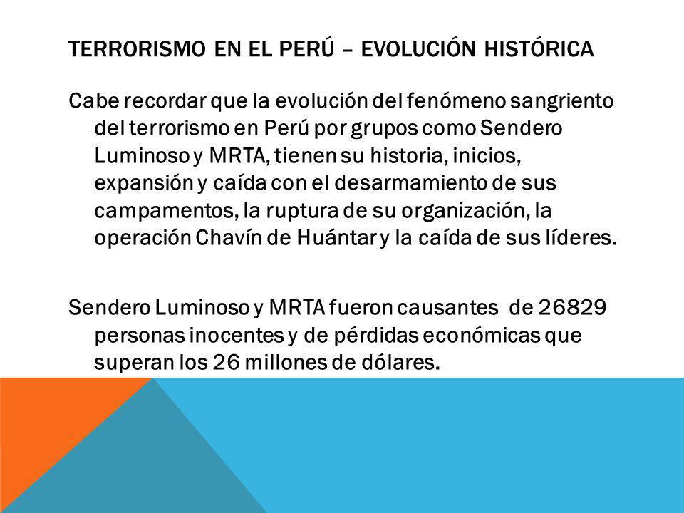 SENDERO LUMINOSO Cuyo nombre oficial es Partido Comunista del Perú Sendero Luminoso es una organización terrorista de tendencia Maoísta originada en el Perú.