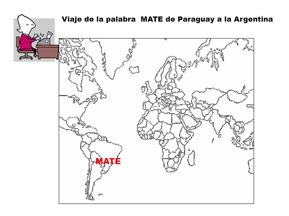 Se denomina mate a la infusión preparada con hojas de yerba mate (Ílex paraguaiensis), planta originaria de las cuencas de los ríos Paraná, Paraguay, el curso superior del Uruguay y el sur de Brasil.