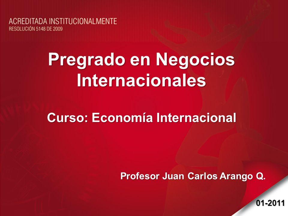 Pregrado en Negocios Internacionales Curso: Economía Internacional Profesor Juan Carlos Arango Q. 01-2011