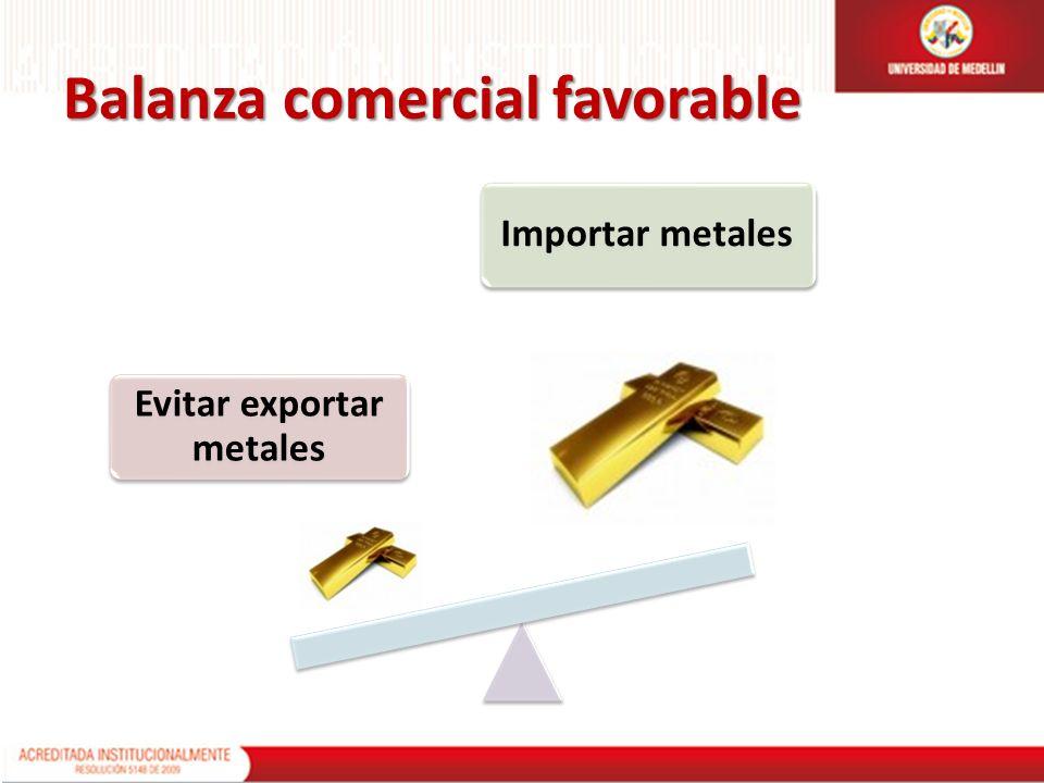 Evitar exportar metales Importar metales