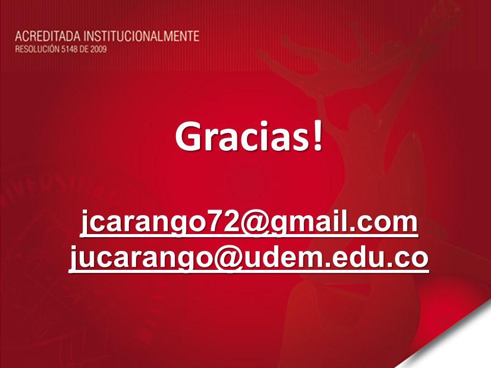 jcarango72@gmail.com jucarango@udem.edu.co Gracias!