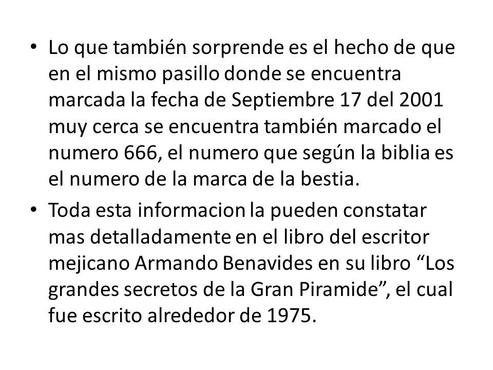 Cuando escribio el libro el autor mexicano, no tenia idea de lo que sucederia en dicha fecha, asi lo afirma en su libro.