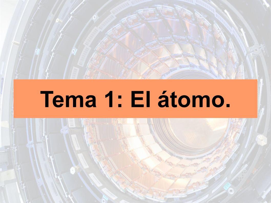 Índice 1.Modelos atómicos. 2. El Modelo Estándar.