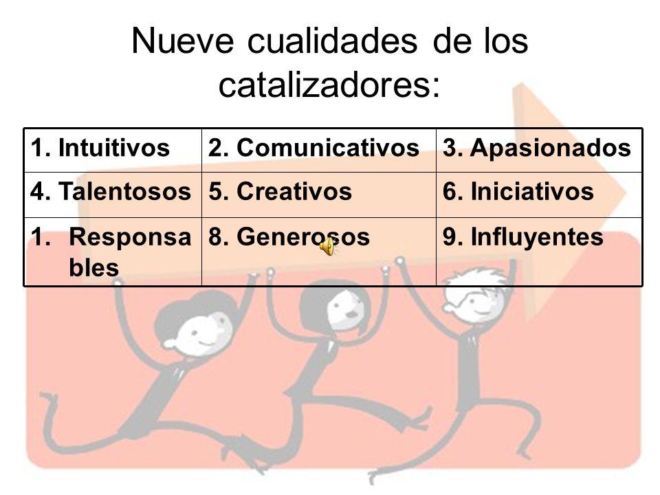 Nueve cualidades de los catalizadores: 1.Intuitivos2.