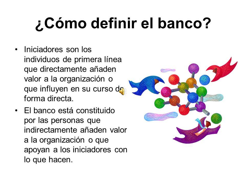 ¿Cómo definir el banco.