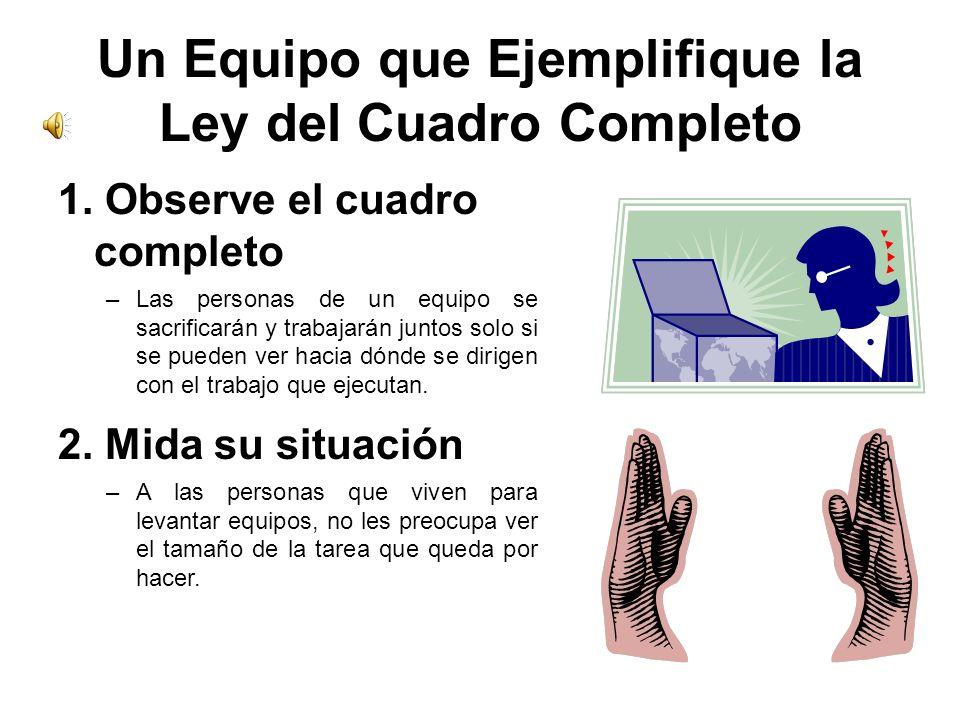 Un Equipo que Ejemplifique la Ley del Cuadro Completo 1.
