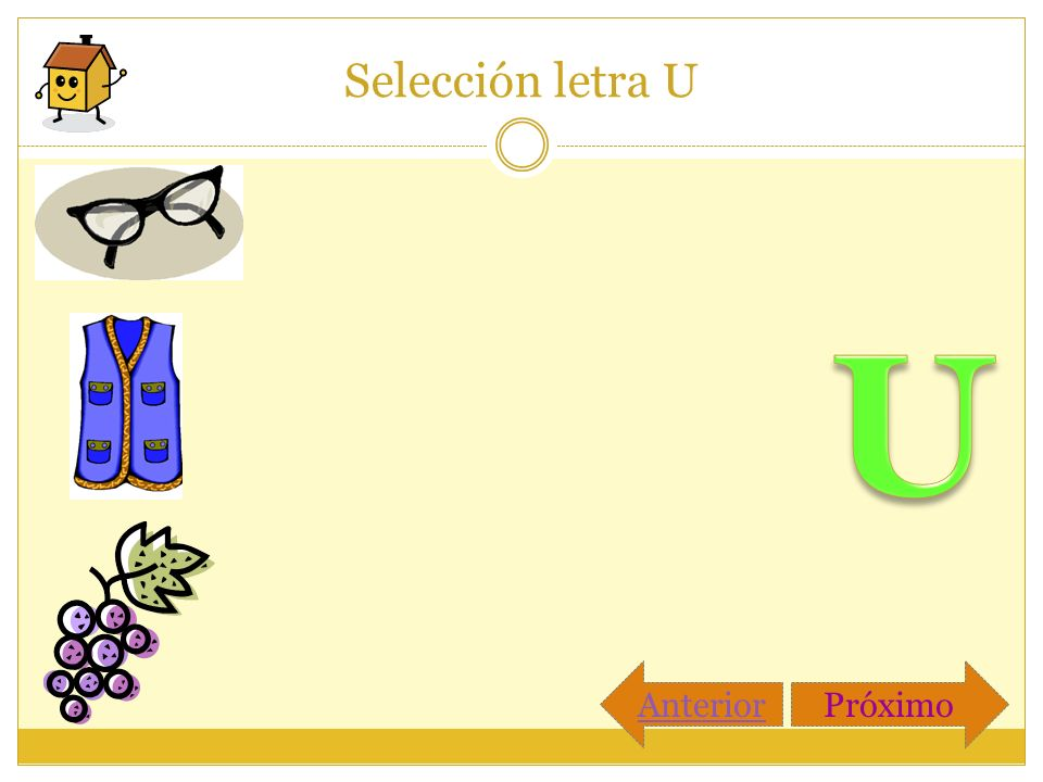Selección letra U PróximoAnterior